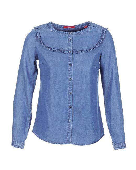 S.oliver - Dadu Women's Shirt In Blue - Lyst