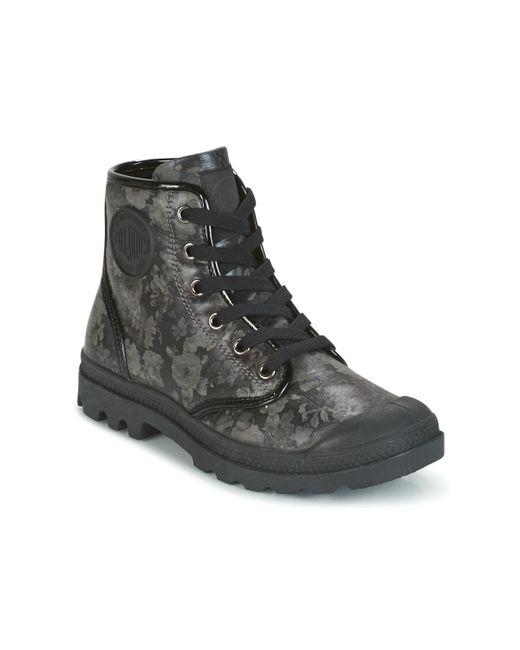 Palladium - Pampa Hi Flo Women's Mid Boots In Black - Lyst