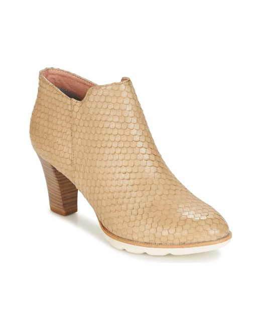 Tamaris - Natural - Women's Low Ankle Boots In Beige - Lyst