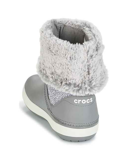 937a26e1ca2 Crocs™ Crocband Winter Boot W Women s Snow Boots In Grey in Gray - Lyst