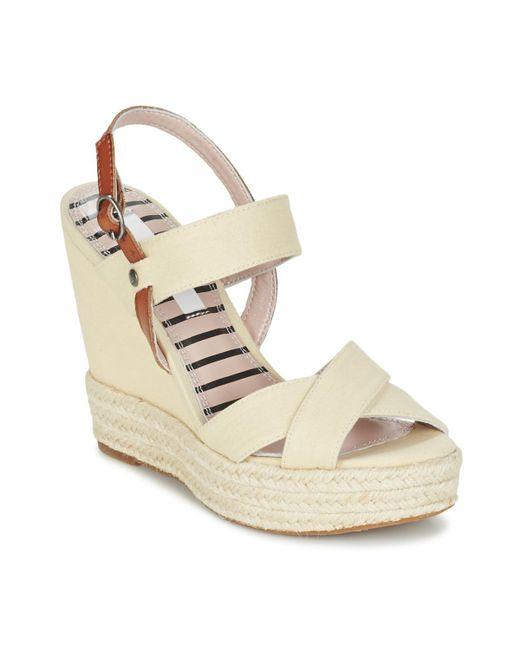 Pepe Jeans - Natural Walker Plain Women's Sandals In Beige - Lyst