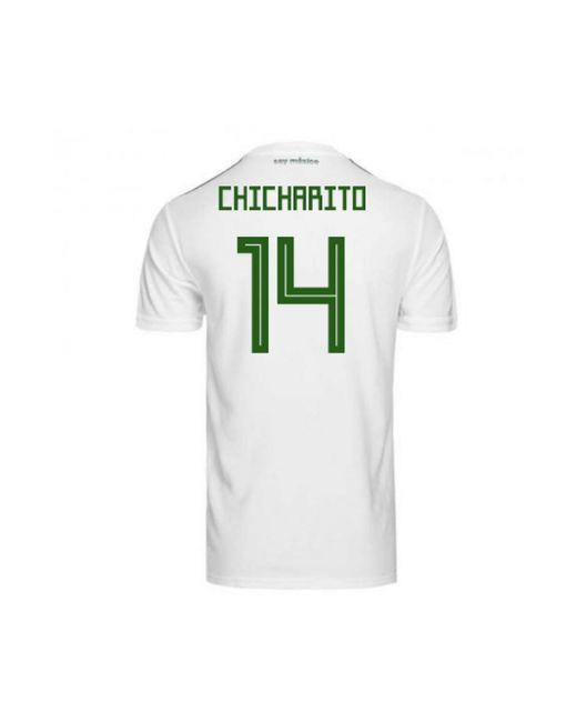 48b8294fe ... discount adidas 2018 2019 mexico away football shirt chicharito 14 mens  t shirt d67b9 8831c