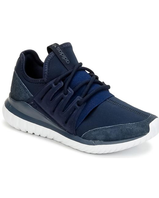 adidas Tubular Radial Women s Shoes (trainers) In Blue in Blue - Lyst 855bc778f