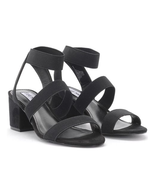 Vegan Fabric Black Suede Steve Isolate Sandal Elax And Madden 7y6Ybgf
