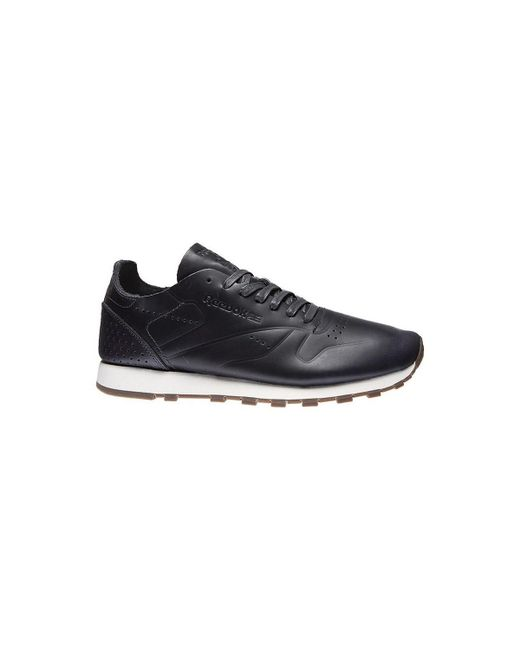 c5a38cdba887 Reebok - Cl Leather Clean Du Men s Shoes (trainers) In Black for Men ...