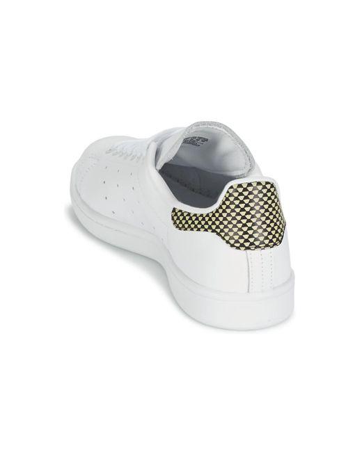 Adidas Stan Smith Scarpe Da Donna (Formatori) In Bianco In Bianco Lyst