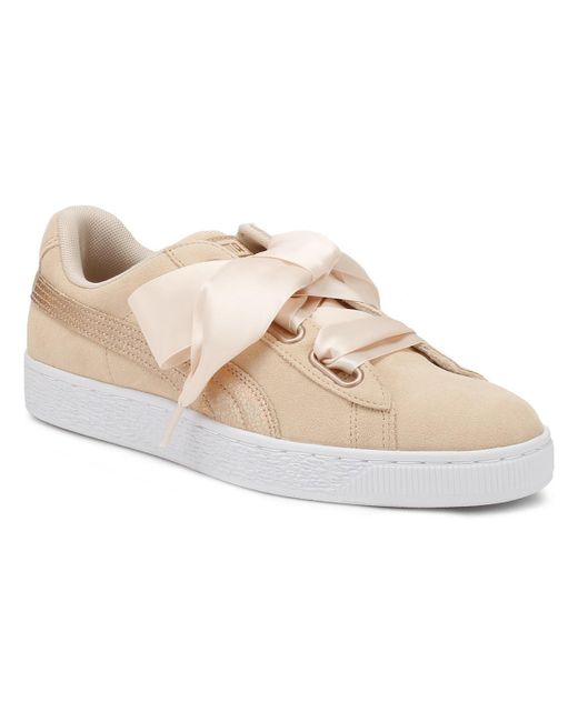 8ca0e8ce77f PUMA - Womens Cream Tan Heart Lunalux Suede Trainers Women s Shoes (trainers)  In Brown ...