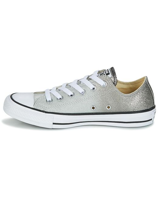 13f104a1681a ... Converse - Gray Chuck Taylor All Star Ox Ombre Metallic Women s Shoes  (trainers) In ...