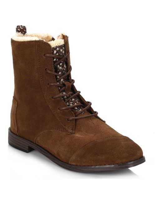 TOMS | Womens Chocolate Brown Alpa Water Resistant Suede Boots Women's Low Ankle Boots In Brown | Lyst