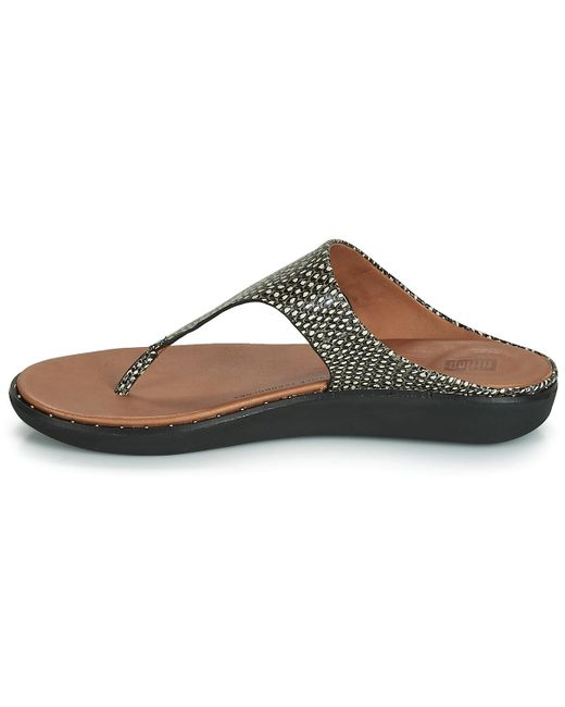 04c0a0eaa Fitflop Banda Ii Dotted-snake Women s Sandals In Black in Black - Lyst