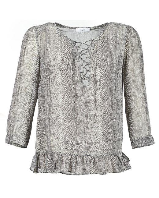 Suncoo - Gray Lana Women's Blouse In Grey - Lyst