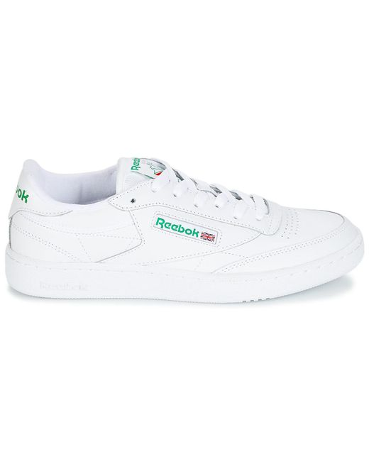Reebok Club C 85 Men s Shoes (trainers) In White in White for Men - Lyst 476632438