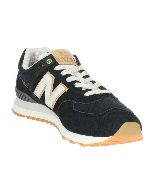 New Balance Ml574oua Low Sneakers Man Black Men's Shoes