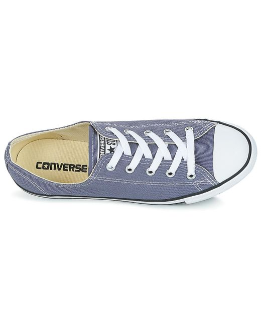 95a48fd943e ... Converse - Chuck Taylor All Star Dainty Ox Women s Shoes (trainers) In  Blue ...