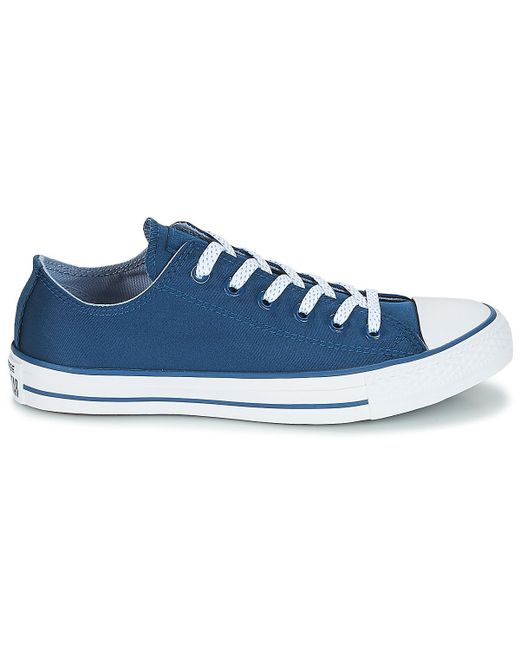 509d08d27fade7 ... Converse - Chuck Taylor All Star Ox Men s Shoes (trainers) In Blue for  Men ...