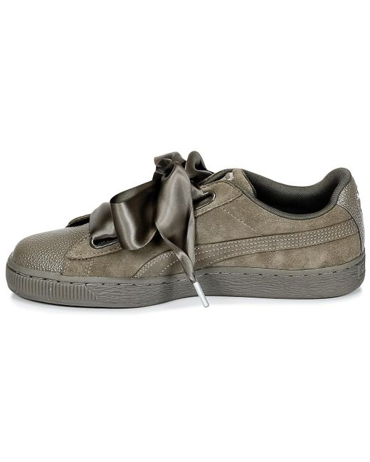 ... Lyst PUMA - Suede Heart Bubble W s Women s Shoes (trainers) In Green ... 144afef75
