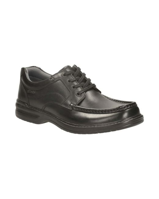 Clarks - Keeler Walk Mens Wide Casual Shoes Men's Casual Shoes In Black for Men - Lyst
