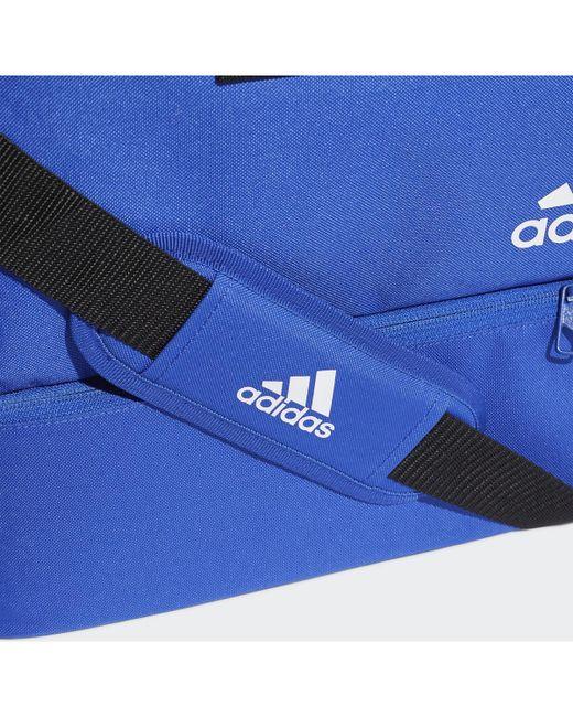 d1e03b3159 ... Adidas - Blue Sac en toile Tiro Format moyen femmes Sac de sport en bleu  for ...