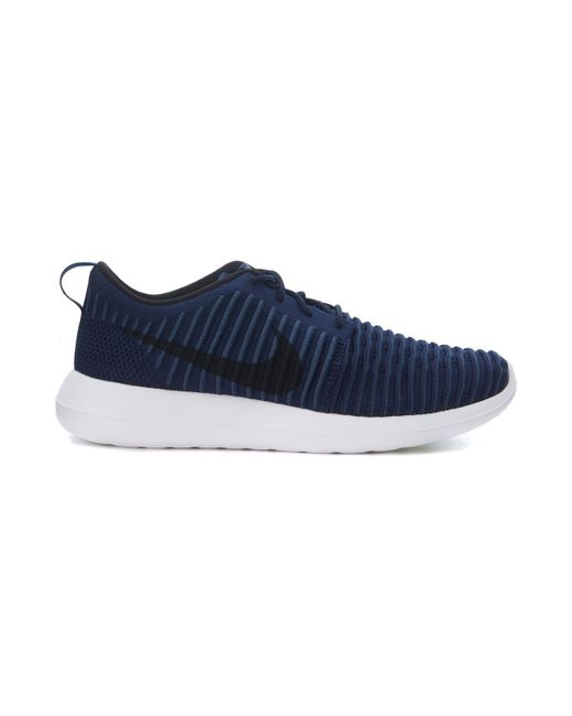 Nike | Sneaker Roshe Two Flyknit In Tessuto Intrecciato Blu E Nero Men's  Trainers In Blue ...