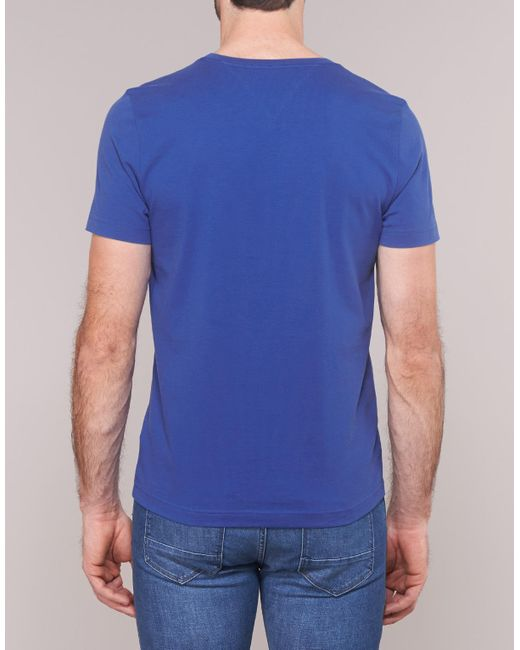 0c24d7fc ... Lyst Tommy Hilfiger - Corp Box Print Tee Men's T Shirt In Blue for Men  ...