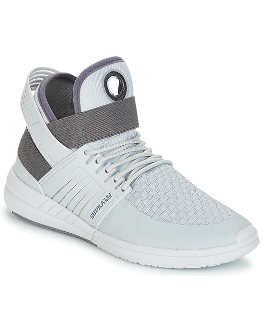 Supra Skytop V Women s Shoes (high-top Trainers) In Grey in Gray - Lyst 325e5f9da2