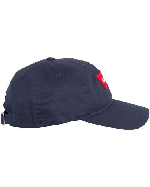 8a0e1b6f ... Levi's - Levis Men's Batwing Flex Fit Baseball Cap, Blue Men's Cap In  Blue for ...