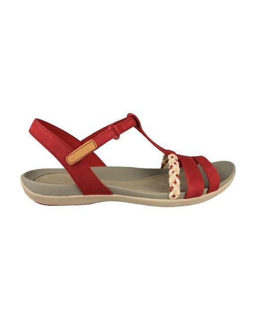 796c9344f232 ... Lyst Clarks - Tealite Grace Women s Sandals In Red ...