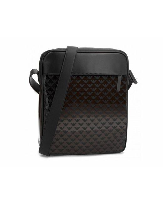 cb23d0baa735 Emporio Armani - Crossbody Pvc Logo Messenger Bag Black for Men - Lyst ...