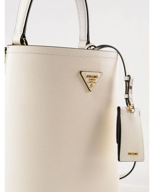 6bebf7a5d4da ... Prada - Natural Handbag Saffiano+city Calf - Lyst ...