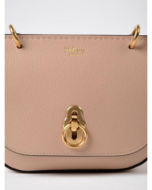 83d3c5b7412d ... order mulberry natural mini amberley satchel lyst c930d ad0a3