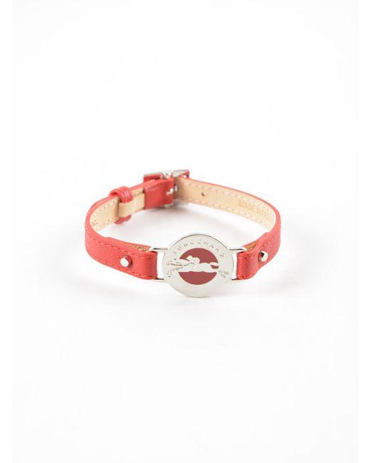 Longchamp - Red Le Pliage Cuir Bracelet - Lyst