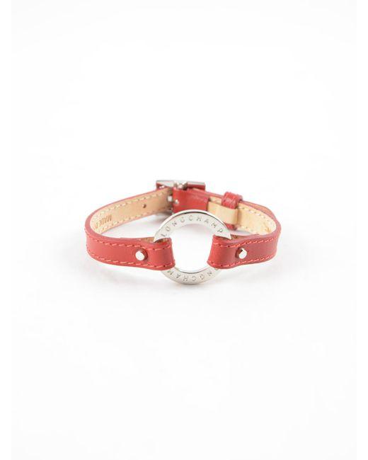 Longchamp - Red Le Foulonne Bracelet - Lyst