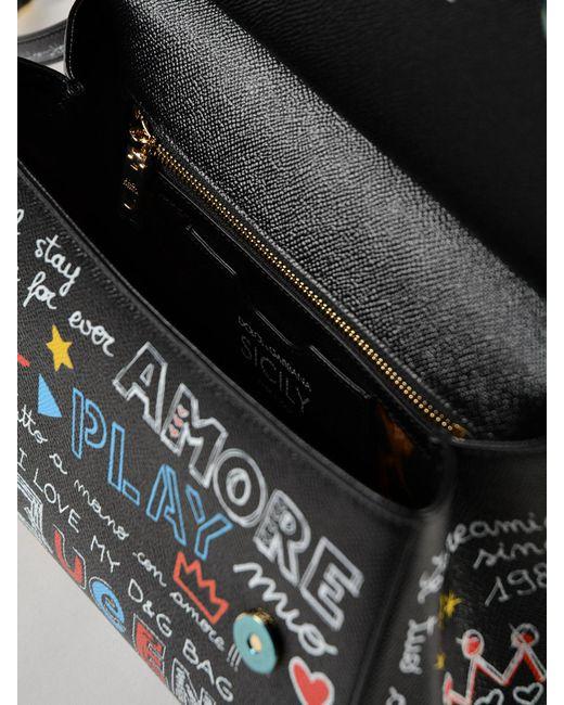 Lyst - Dolce   Gabbana St.dauphine Printed Handbag in Black - Save ... dd477de1b0442