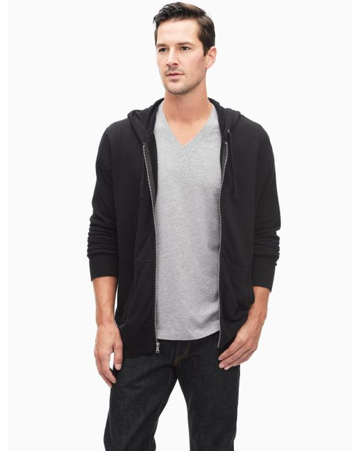 Splendid | Black Space Dye Active Zip Up Hoodie for Men | Lyst