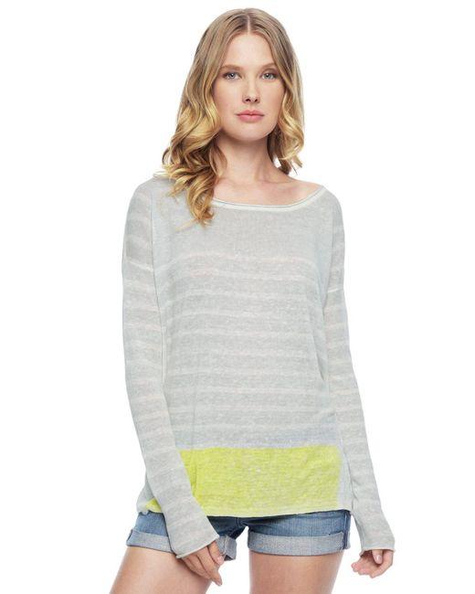 Splendid | Gray Linen Print Pullover | Lyst