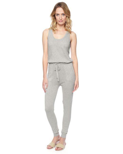 Splendid | Gray Sweater Jumpsuit | Lyst