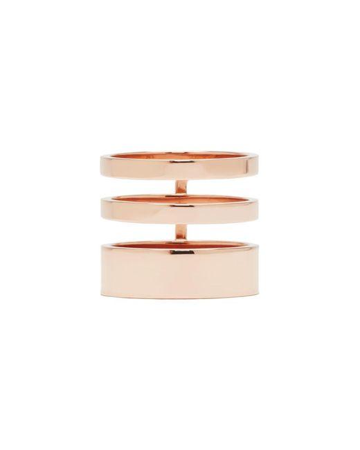 Repossi - Metallic Rose Gold Triple Band Berbere Ring - Lyst
