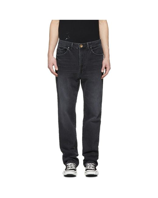Miharayasuhiro - Black Wide Jeans for Men - Lyst