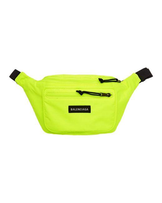 Balenciaga - Yellow Nylon Explorer Belt Pouch for Men - Lyst
