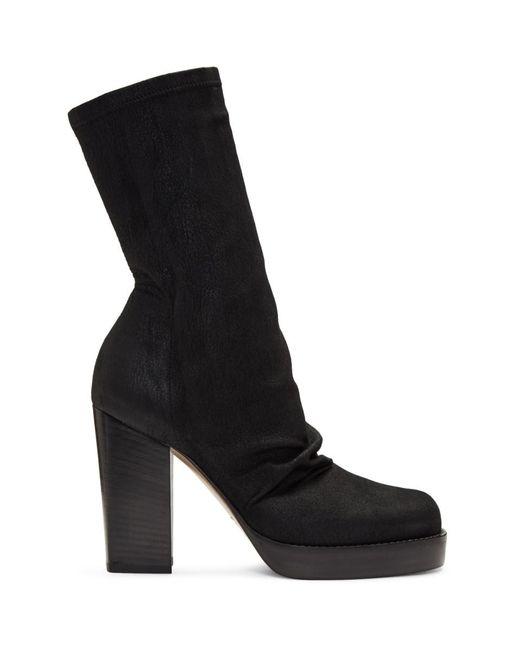 Rick Owens - Black Chunky Sock Boots - Lyst