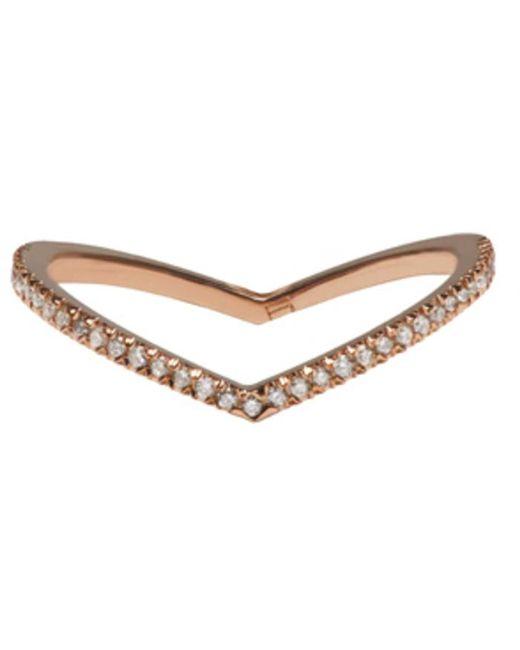 Eva Fehren | Pink Rose Gold Diamond Private Ring | Lyst