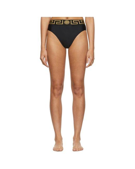 Versace Black Empire Bikini Bottoms