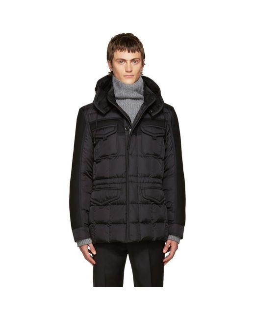 Moncler - Black Down Jacob Jacket for Men - Lyst