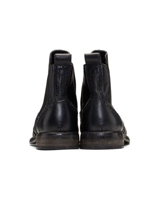 Rick Owens Black Alvington Chelsea Boots