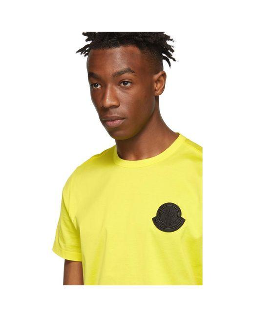 d508d2e9 ... Moncler Genius - 2 Moncler 1952 Yellow Logo T-shirt for Men - Lyst ...