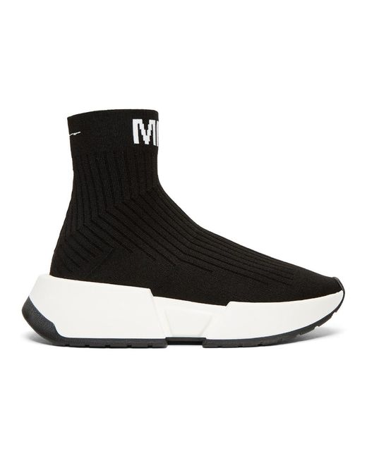 MM6 by Maison Martin Margiela - Black Sock High-top Sneakers for Men - Lyst