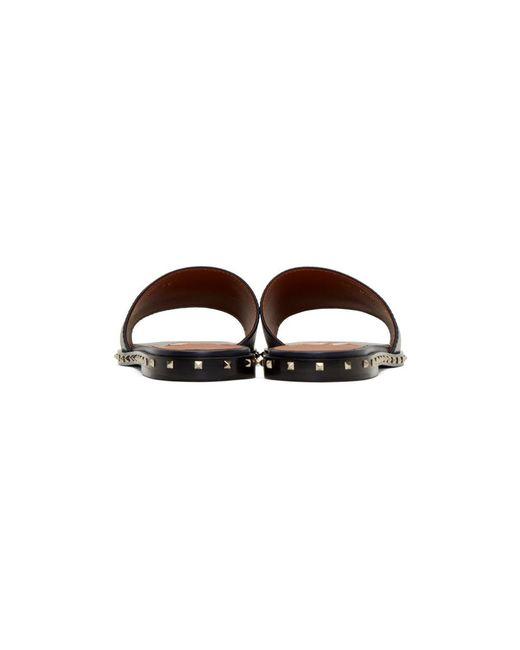 Valentino Navy Garavani Rockstud Sole Sandals