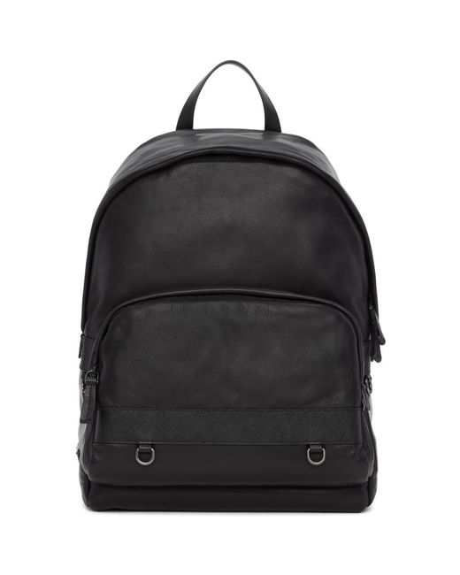 c2842a3a58b8 ... where can i buy new arrivals prada black leather backpack for men lyst  1574d e98e6 60837