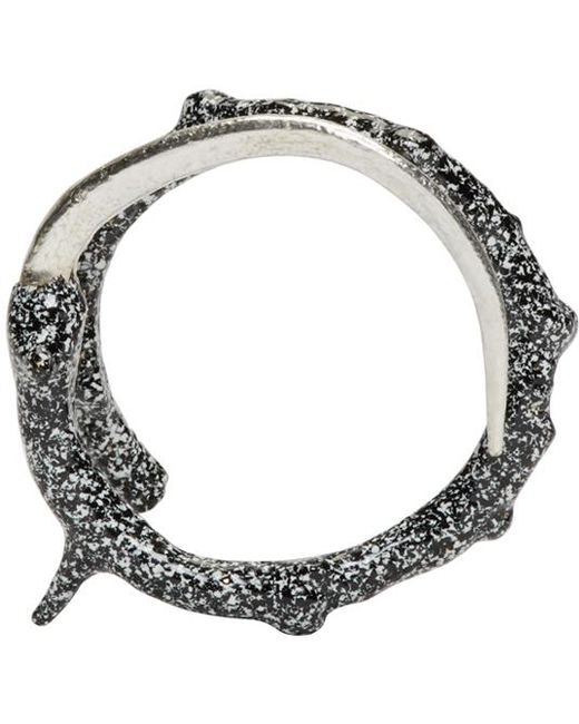 Pearls Before Swine | Metallic Silver Thorn Wrap Ring | Lyst
