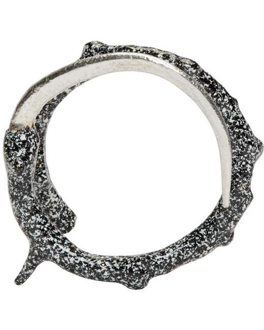 Pearls Before Swine   Metallic Silver Thorn Wrap Ring   Lyst